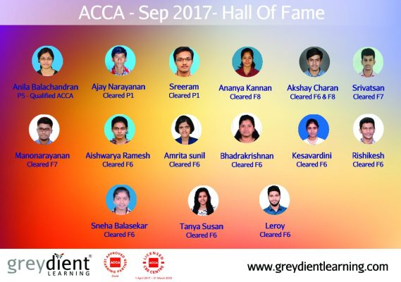 ACCA – Sep 2017 – Results